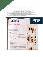 taller laboratorio reconocer  mezclas