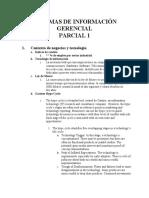 P1 SISTEMAS DE INFORMACIÓN GERENCIAL