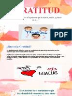 VALOR DE LA GRATITUD