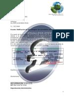 NOTIFICACION DE VACACIONES INFORME GENERAL 2020