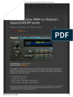 How to achieve PWM on Roland's Super JV-JD-XP series