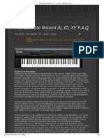 The ultimate Roland JV, JD, XV F.A.Q. (Don Solaris)