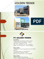 COMPANY PROFILE PT.GOLDEN TEKNIK