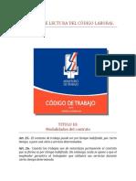 INFORME DE LECTURA DEL CÓDIGO LABORAL