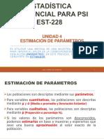 4. Estimación de Parámetros