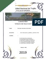 informe fractura (ensayo de tracción)