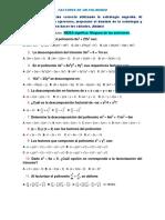 Ejercicios de factorización