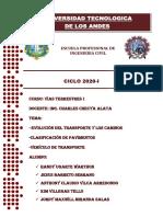 VIAS TERRESTRES I - GRUPO N°1 - capitulo I - EVOLUCION DEL TRANSPORTE Y CAMINOS