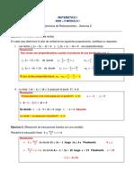 Resolución del material de Reforzamiento de Matemática I de la Semana 2