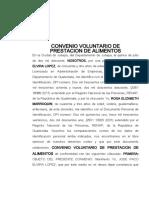 CONVENIO PRIVADO DE ALIMENTOS