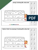 Lembaran Kerja 1-10 Tema Pasang Lilin Kek