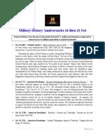 Military History Anniversaries 1016 Thru 93020