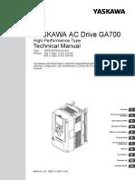 GA700 Technical Manual