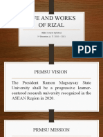 Life and Works of Rizal Orientation