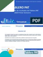 Plantilla diapositivas tablerp pat primero semestre 2020