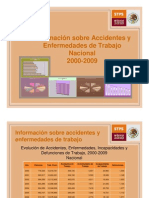 Informacion sobre accidentes laborales 2000 2009