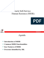 SSHR Basic Features