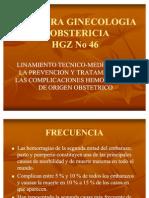 Lineamiento técnico-médico de hemorragia obstétrica