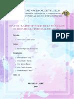 LA IMPORTANCIA DE LA MÚSICA EN EL DESARROLLO DEL NIÑO - Ensayo