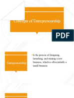 Concepts of Entrepreneurship