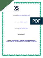 TAREA DE BIOESTADISTICA INVESTIGACION DE FORMULAS