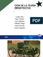 evolucindelateoraadministrativa-110517114025-phpapp01