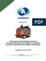 DOCUMENTO - ANTECEDENTES TÉCNICOS Y ECONÓMICOS PARA ELABORAR UNA NORMA DE EMISIÓN PARA CALDERAS - AMBIOSIS - 2008