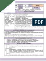 Octubre - 5to Grado Español (2020-2021)