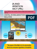 divide, bullying and addiction