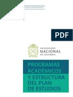 Programas academicos y estructura de plan de estudios