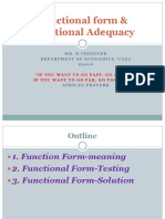 07-FUNCTIONAL FORM AND FUNCTIONAL ADEQUACY