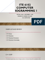 ITE 6102 – Computer Programming 1_VC_Sept 11