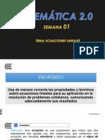 SEMANA_01_ECUACIONES_LINEALES