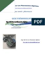 qcm hémostase et son exploration +corrigé et commentaire.pdf
