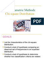 CHI-SQUARE AND ANALYSIS OF VARIANCE