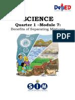 SCIENCE6_Q1_MOD7_Benefits of Separating Mixturess