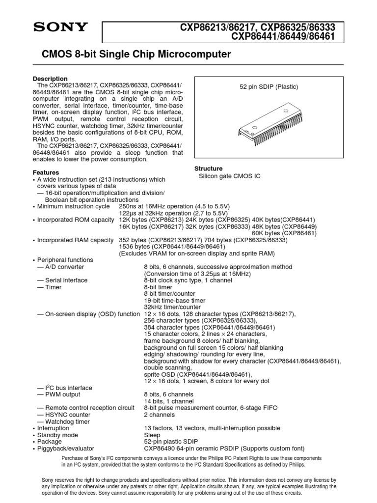 lg8738 05a cxp86441 analog to digital converter manufactured rh scribd com