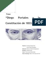 Informe Constitución 1833 y Diego Portales.