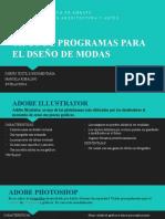 TIPOS DE PROGRAMAS PARA EL DSEÑO DE MODAS PP