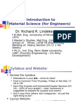 Me2105 Introduction to Material Science --Ch1