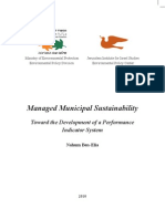 Managed Municipal Sustainability Toward the Development of a Performance Indicator System 2010