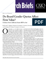 Do Board Gender Quotas Affect Firm Value? Evidence from California Senate Bill No. 826
