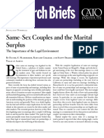 Same‐​Sex Couples and the Marital Surplus