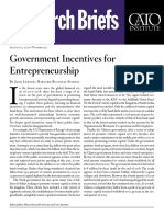 Government Incentives for Entrepreneurship