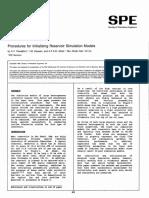 Procedures for Initializing Reservoir Simulation Models