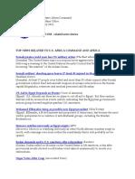 AFRICOM Related News Clips February 2, 2011