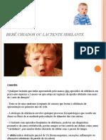 Bebê Chiador ou Lactente Sibilante