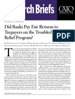 Did Banks Pay Fair Returns to Taxpayers on the Troubled Asset Relief Program?