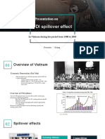 What is the FDI spillover effect on Vietnam's economic growth from 1998 to 2006_