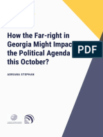 How the far-right in Georgia might impact the political agenda this October?